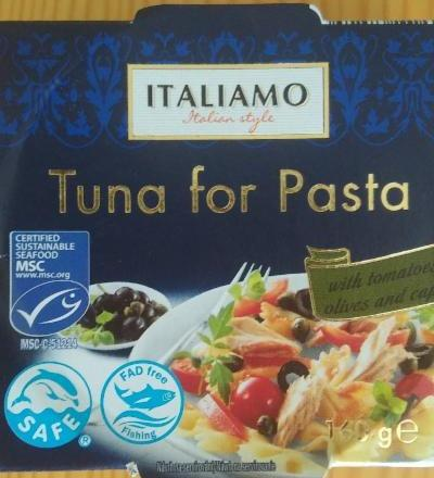 Fotografie - Italiamo Tuna for Pasta with tomatoes, olives and capers