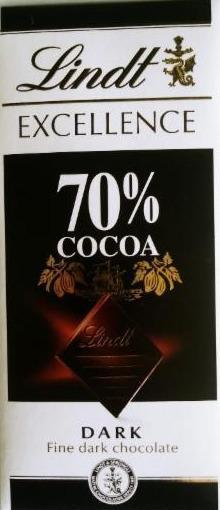 Fotografie - Lindt Excellence 70 % cacao