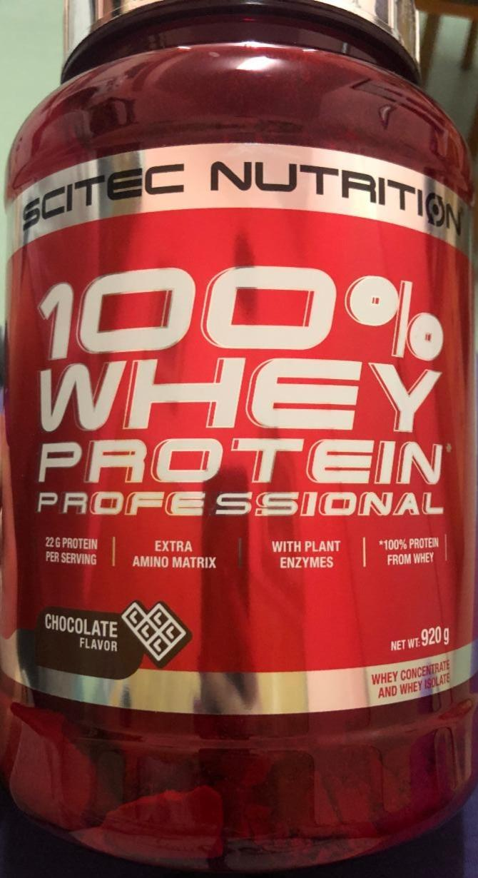 Fotografie - Scitec Nutrition 100% whey protein professional chocolate flavor