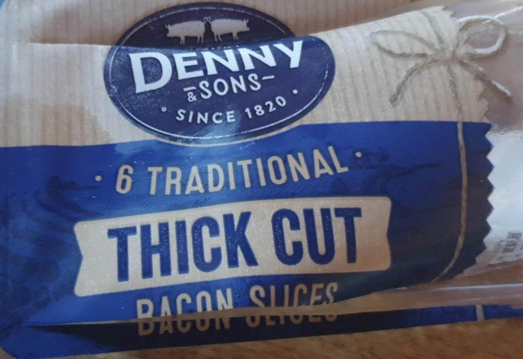 Fotografie - Thick cut bacon sliced Denny