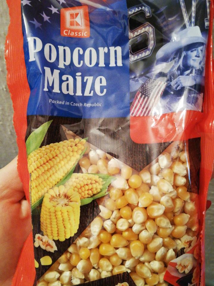 popcorn maize - kalórie, kJ a nutričné hodnoty..