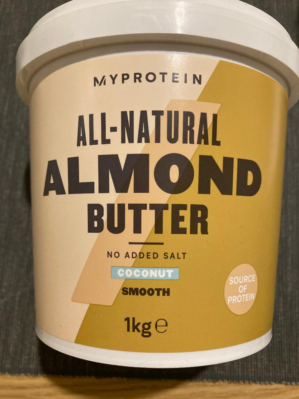 Fotografie - Almond butter Coconut Smooth MyProtein
