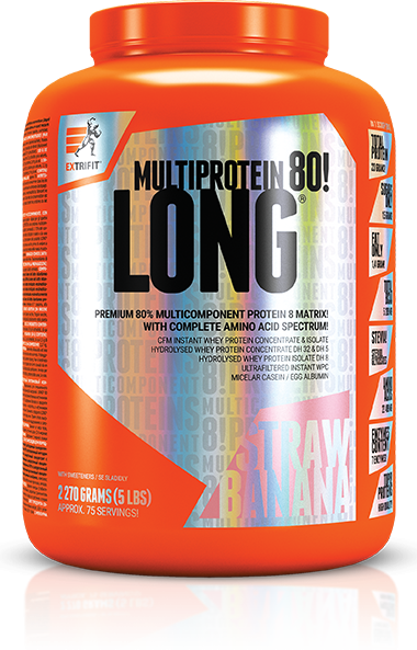 LONG 80 MULTIPROTEIN jahoda, banán Extrifit