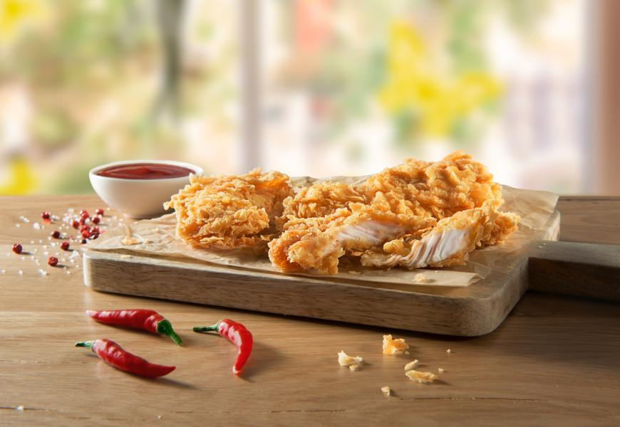 Hot and spicy strips KFC