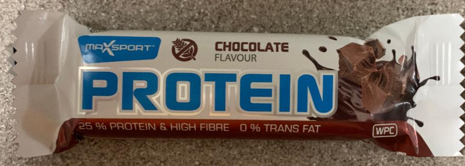 Fotografie - Protein Bar Chocolate flavour MaxSport