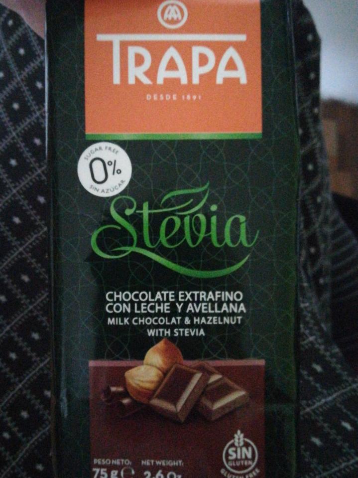 Fotografie - Milk chocolat & hazelnut with stevia
