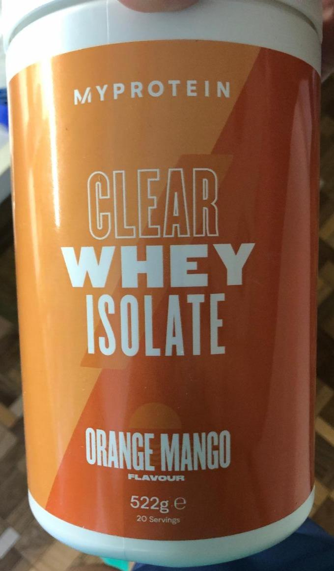 Fotografie - My protein Clear whey isolate Orange mango